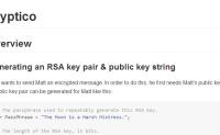 JavaScript RSA加密库Cryptico.js