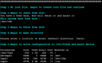 linux shell脚本自动化挂载磁盘